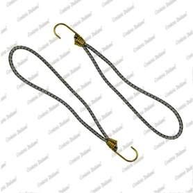 Tenditore elastico ad anello 6 mm - 25 cm, grigio, 2 pezzi