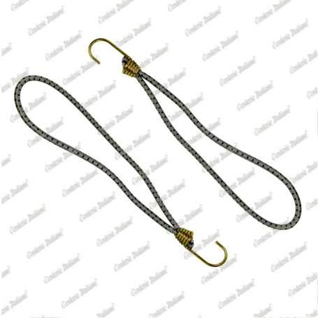 Tenditore elastico ad anello 6 mm - 25 cm, grigio, 25 pezzi