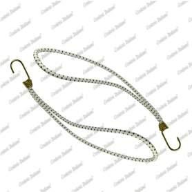 Tenditore elastico ad anello 6 mm - 30 cm, bianco, 25 pezzi