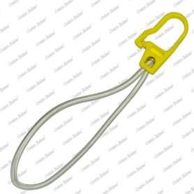 Tenditore elastico ad anello in alta tenacità con gancio in nylon 6 mm - 15 cm, 10 pezzi