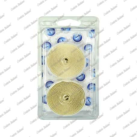 Velcro adesivo a strappo, asola e uncino, bianco, 25 mm - 1,5 mt