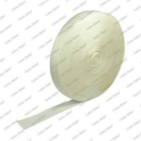 Nastro tessuto in polipropilene, bianco, 40 mm - 50 mt