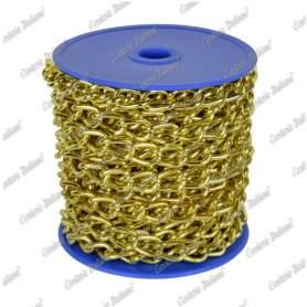 Catena gourmette Ø 1,5 mm, interno maglia 5 mm x 2 mm, 25 mt, ottonata