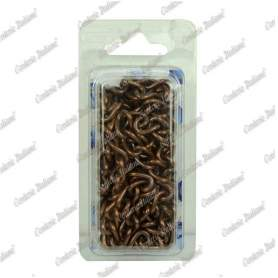 Catena gourmette Ø 2,5 mm, interno maglia 10 mm x 4 mm, 1,5 mt, bronzata
