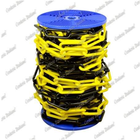 Catena in plastica giallo/nera Ø 6 mm - 25 mt