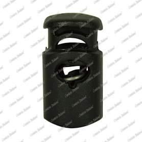 Fermacorda a botte con foro singolo, ø fori 3,5 mm x 7,0 mm, 6 pz, nero