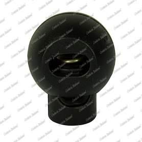 Fermacorda tondo con foro singolo, ø foro 3,6 mm x 7,0 mm, 6 pz, nero
