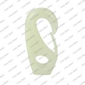 Gancio in nylon, misura foro 8 mm - 3 pz, bianco