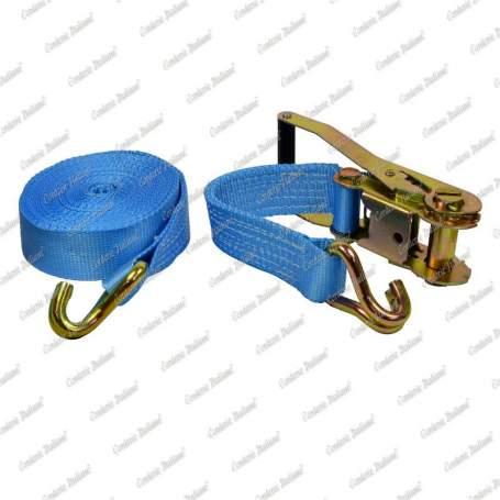Cinghie di ancoraggio per carichi pesanti, gancio uncino a 2 dita + tenditore a cricchetto