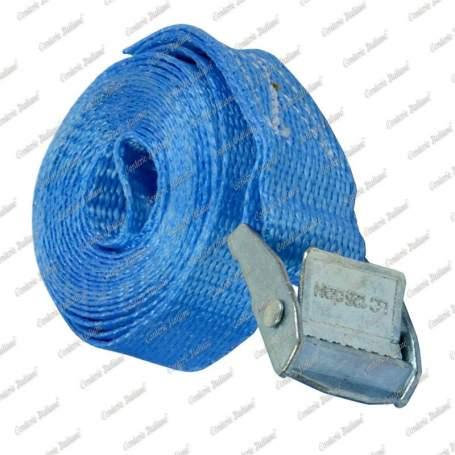 Cinghia di ancoraggio per piccoli carichi con fibbia autobloccante, 25 mm - 5 mt, 1 pz