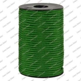 Treccia hobby verde medio 2 mm - 50 mt
