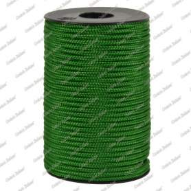 Treccia hobby verde medio 3 mm - 40 mt