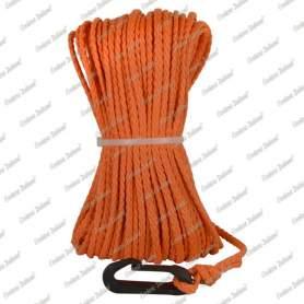 Treccia boa sub galleggiante arancio, con moschettone, 6 mm - 25 mt