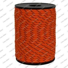 Treccia piatta élite, arancio/nero, 4 mm - 90 mt